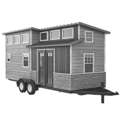 Volstrukt | The TRAILBLAZER Tiny House | 250x250px black and white