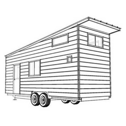 Volstrukt | The WEDGE Tiny House | 250x250px black and white