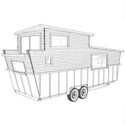 Volstrukt   NAUTICAL lightweight steel tiny house kit