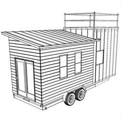 Volstrukt   SPRINGS configurable tiny house steel kit