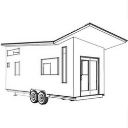 Volstrukt | TILTED configurable lightweight steel tiny house kit