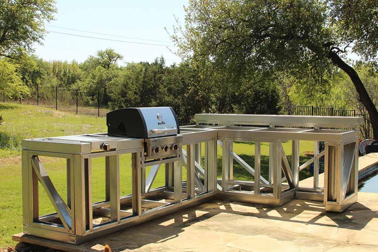 Volstrukt Steel Outdoor Kitchen Frame Kits